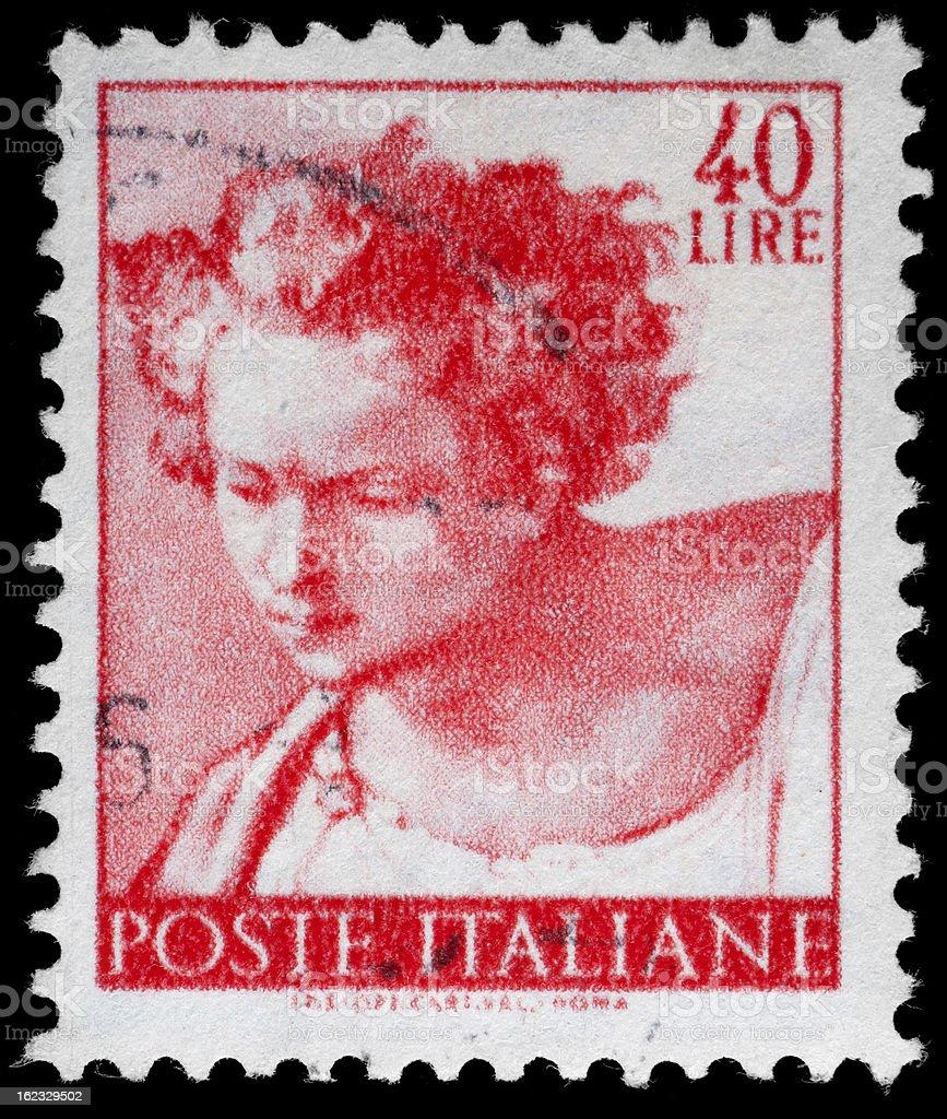 Michelangelo Sistine Chapel Postage Stamp stock photo