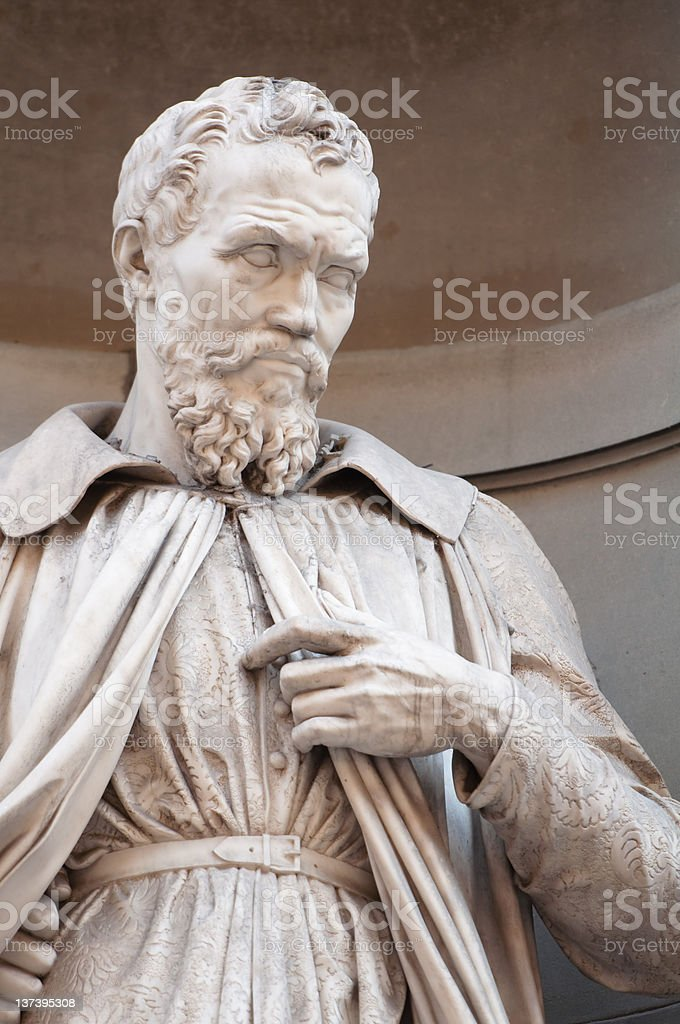 Michelangelo Statue in Florence royalty-free stock photo
