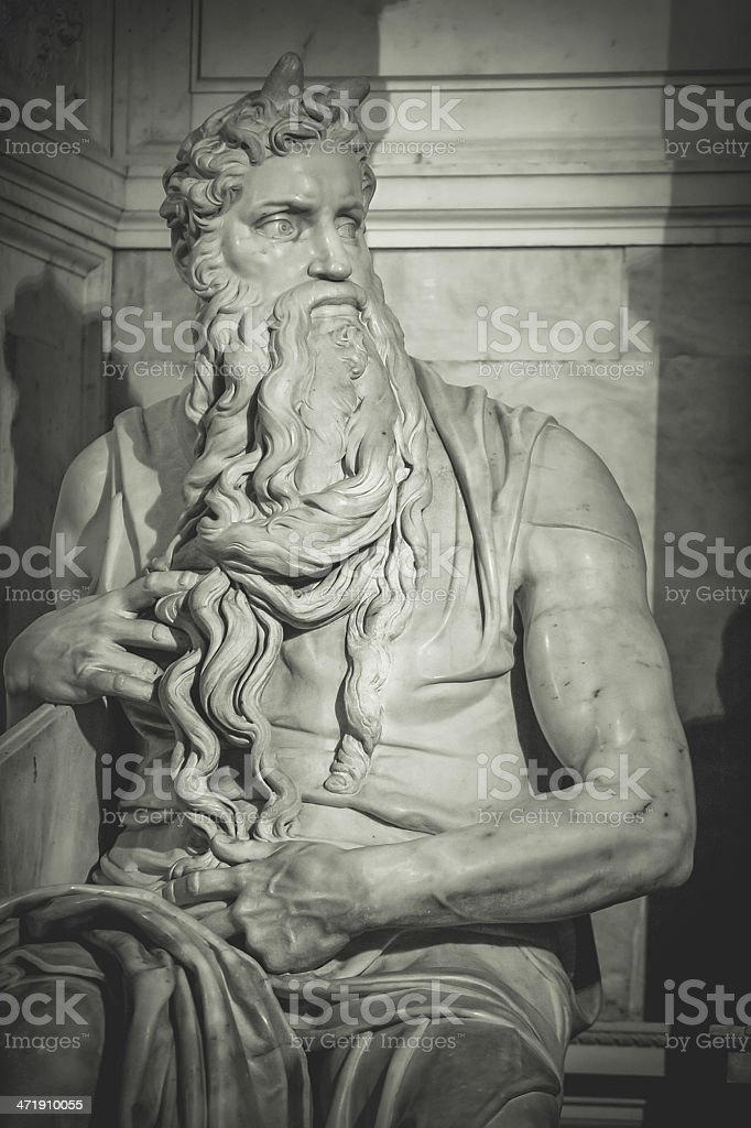 Michelangelo's Moses n San Pietro in Vincoli church stock photo