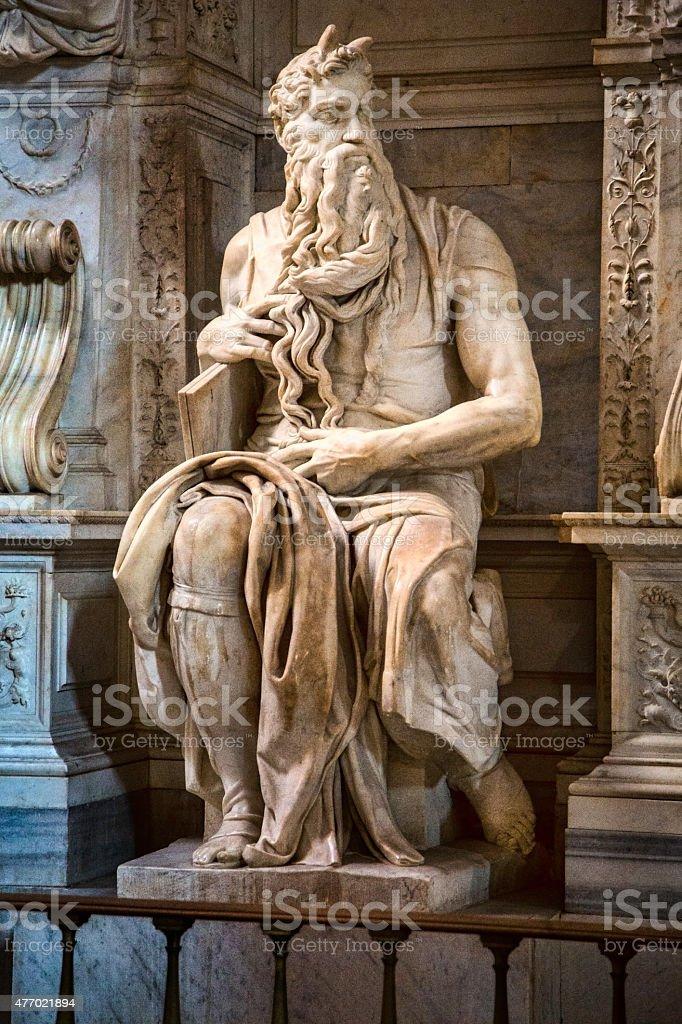 Michelangelo's Moses stock photo
