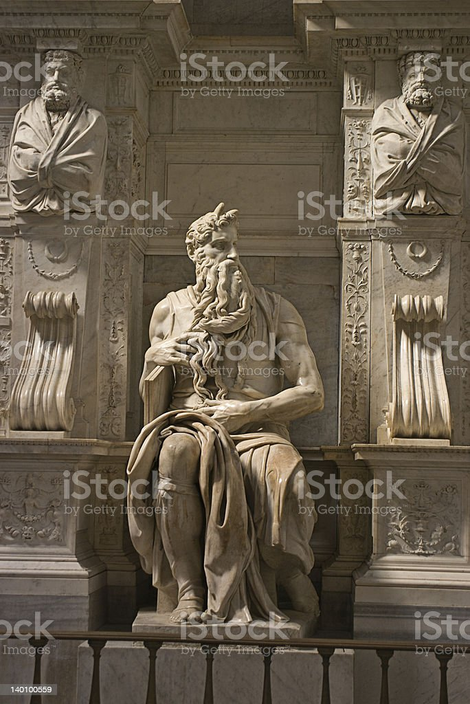 Michelangelo's Moses - San Pietro in Vincoli, Rome, Italy stock photo