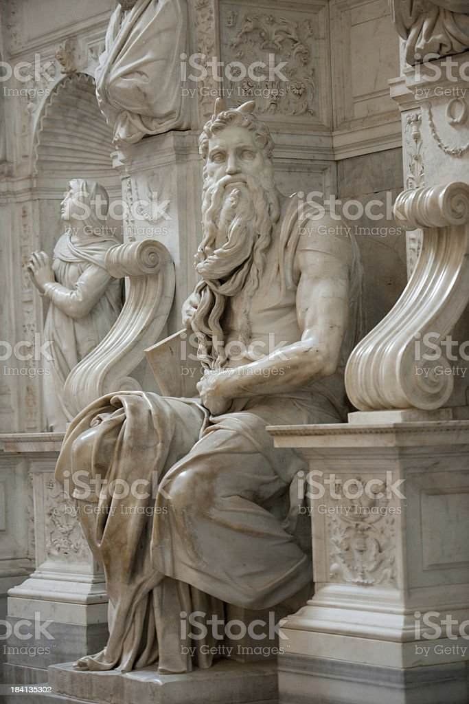 Michelangelo's Moses - San Pietro in Vincoli, Rome, Italy royalty-free stock photo