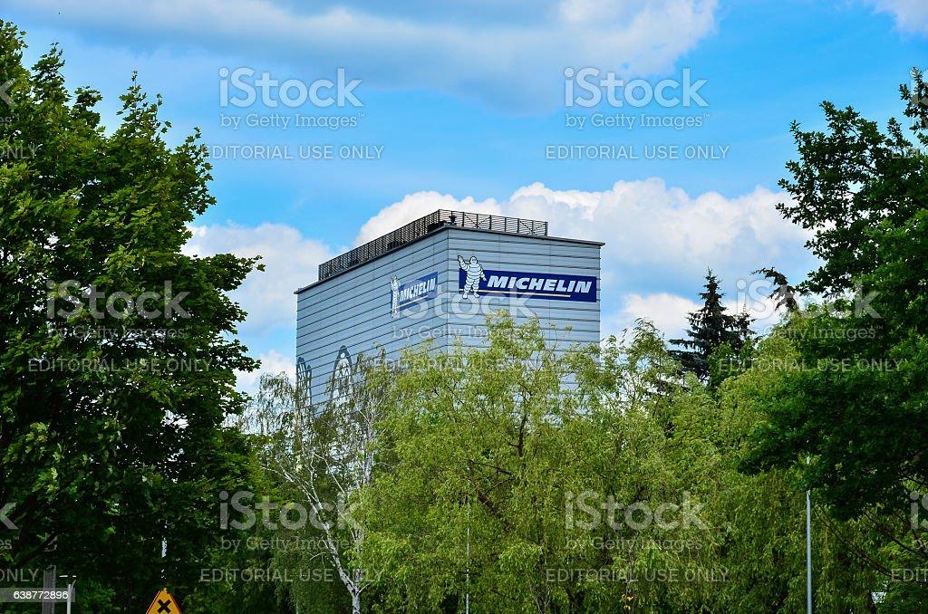 Michelin building in Olsztyn stock photo