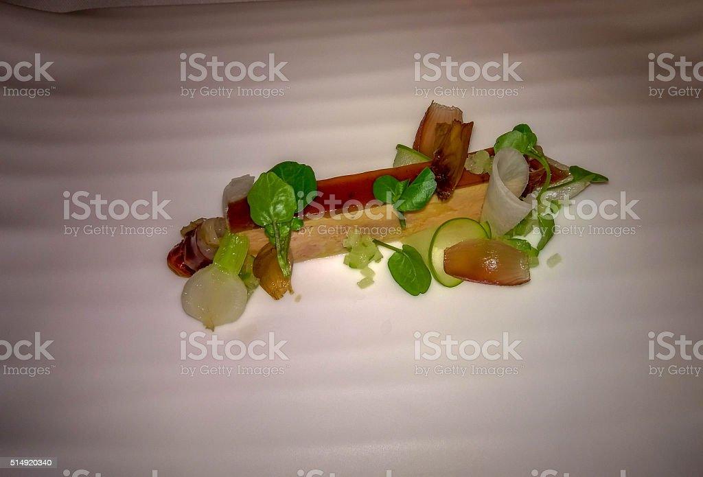 Michelin star appetizer stock photo