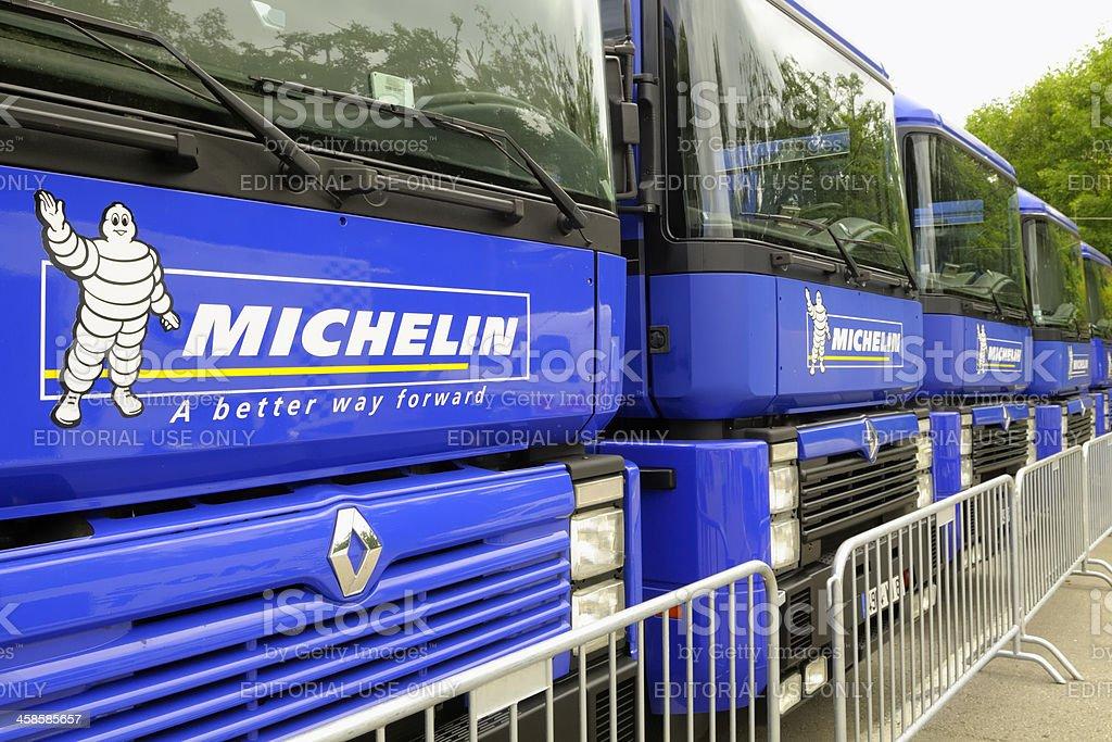 Michelin trucks stock photo