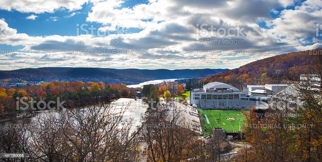 Michie Stadium on the campus of West Point Military Academy stock photo