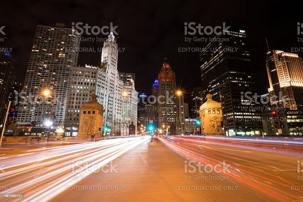 Michigan Ave stock photo