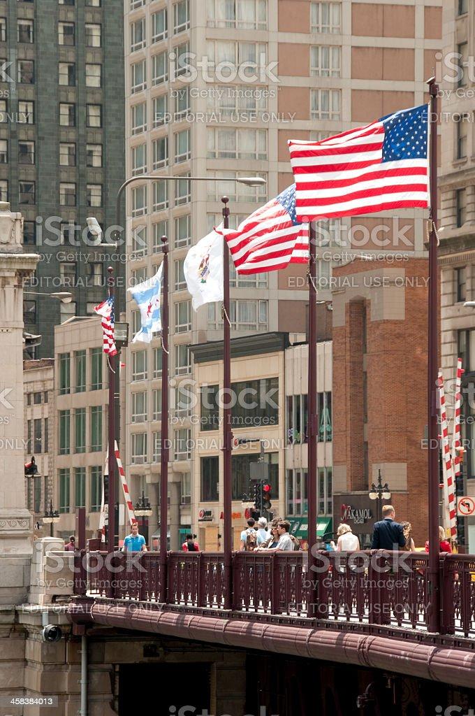 Michigan Avenue Bridge royalty-free stock photo