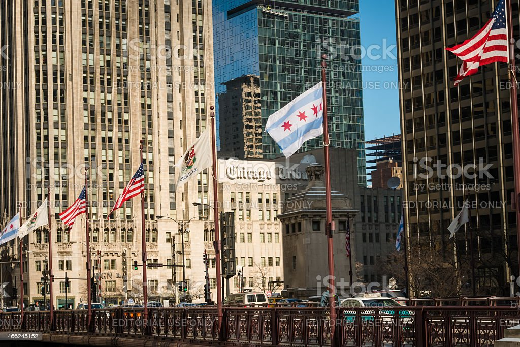 Michigan Avenue Bridge stock photo