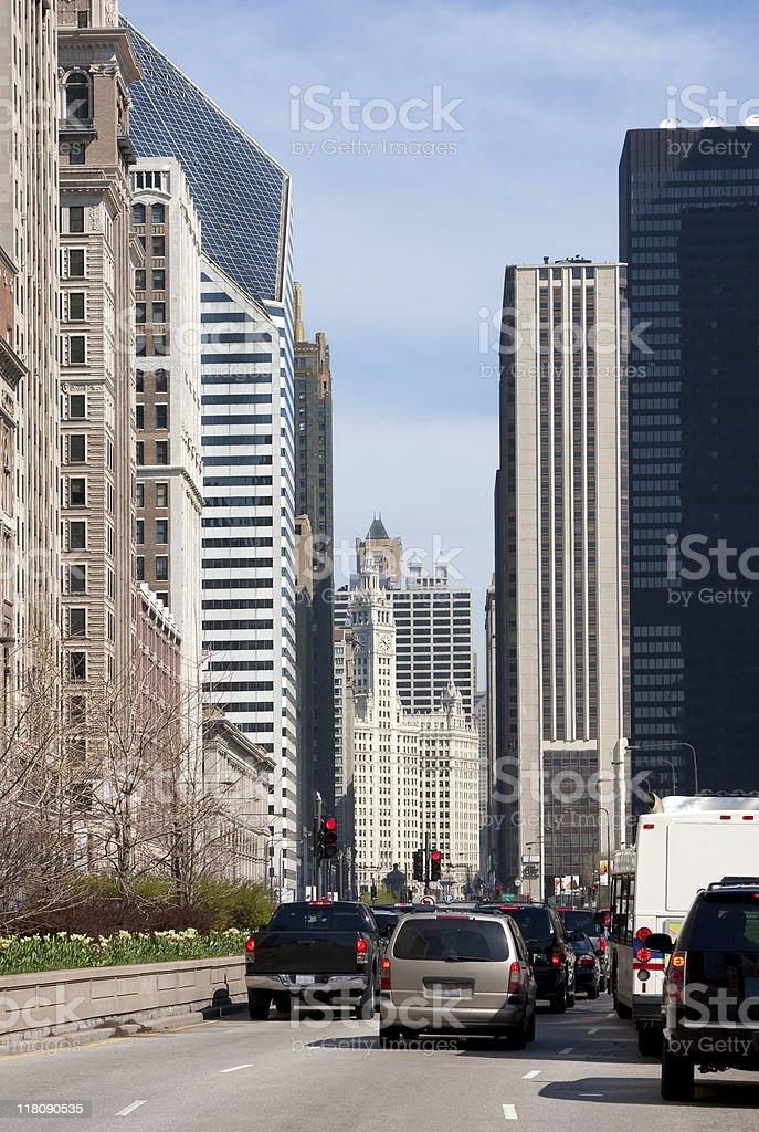 Michigan Avenue ??Chicago stock photo