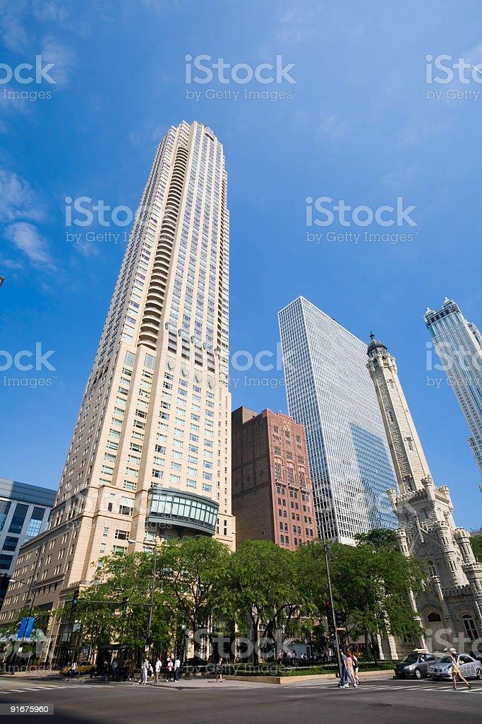 Michigan Avenue, Chicago royalty-free stock photo
