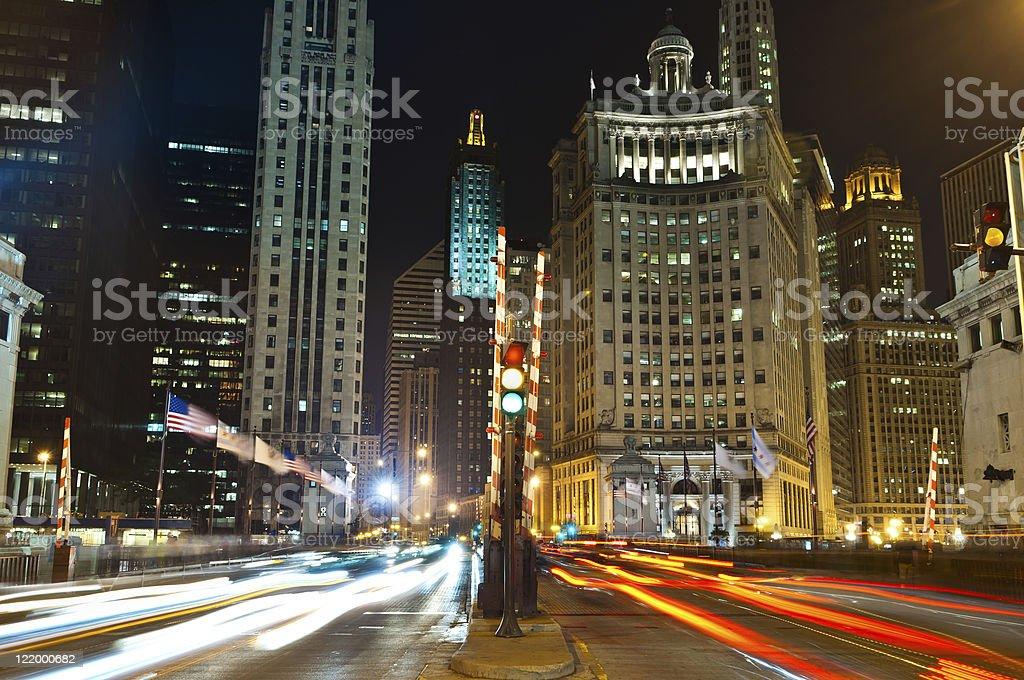 Michigan Avenue in Chicago. stock photo