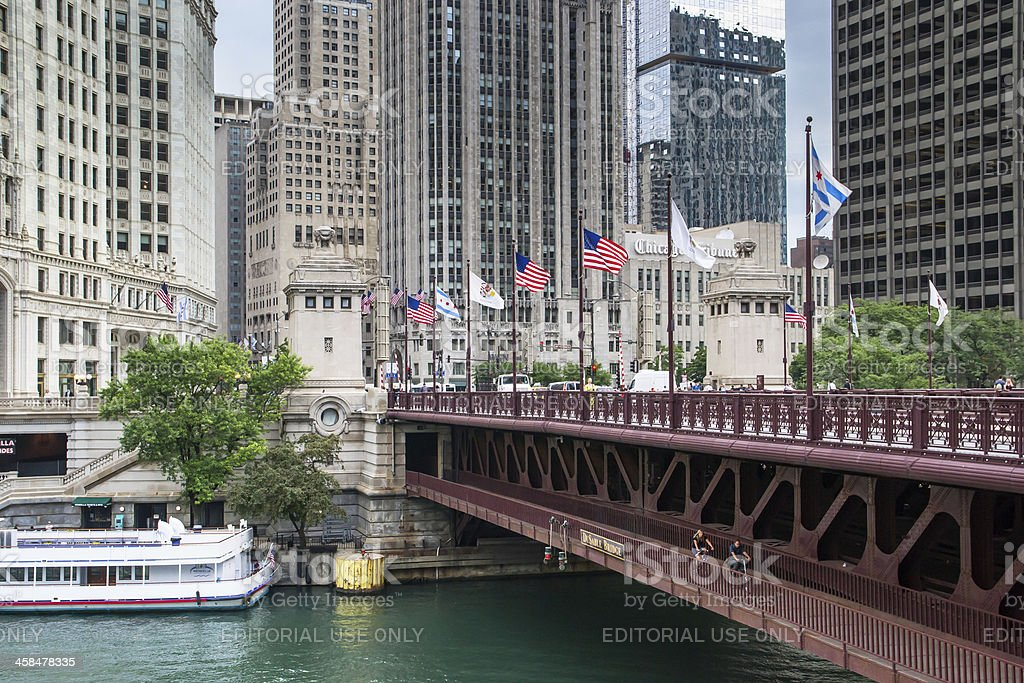 Michigan avenue in chigago stock photo