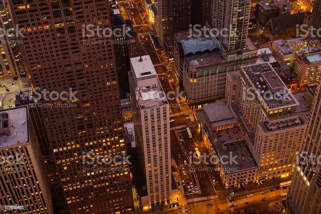 Michigan avenue royalty-free stock photo
