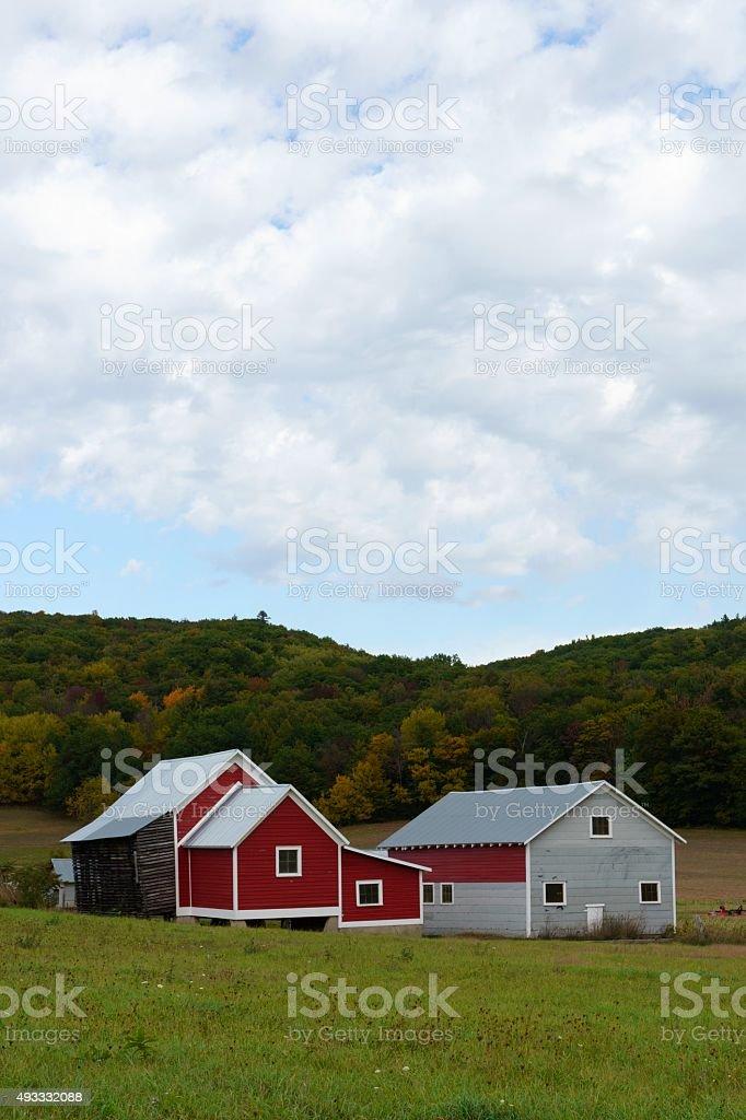 Michigan Barn in Autumn stock photo