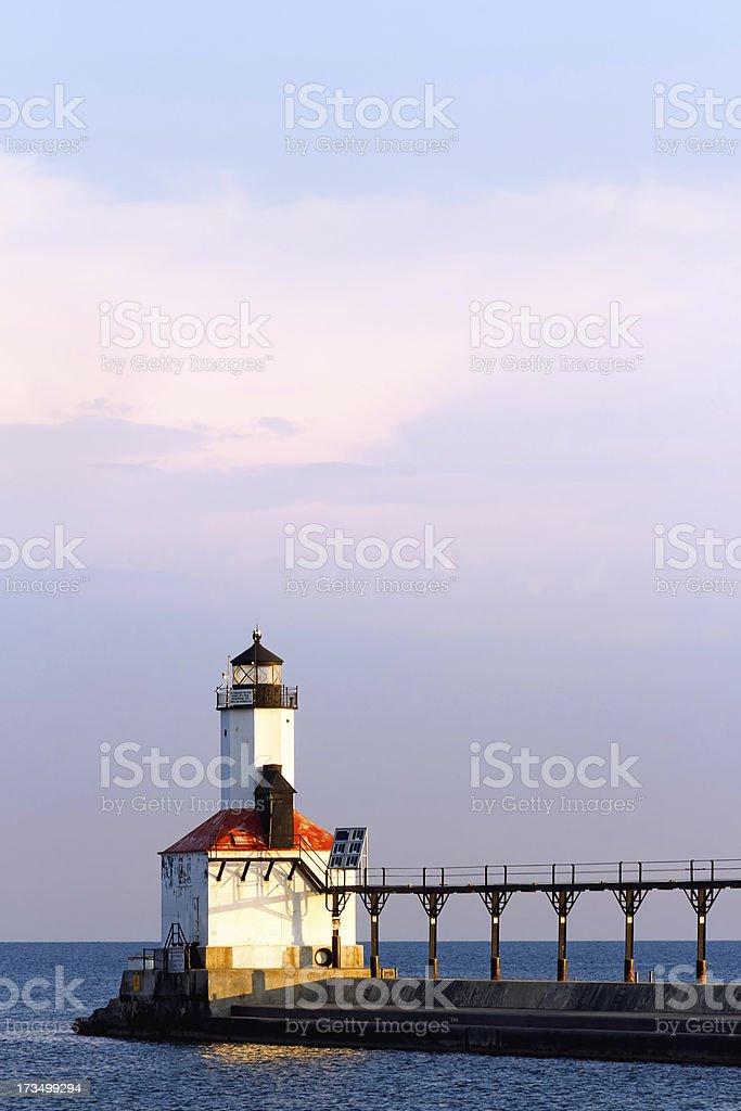 Michigan City, Indiana Faro foto stock royalty-free