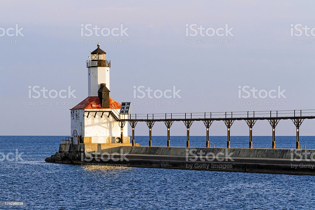 Faro di Michigan City foto stock royalty-free