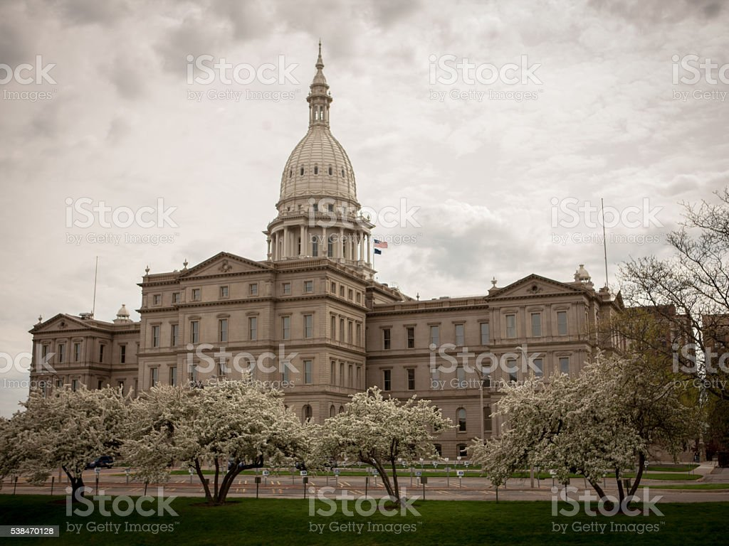 Michigan State capitol building in Lansing, MI stock photo