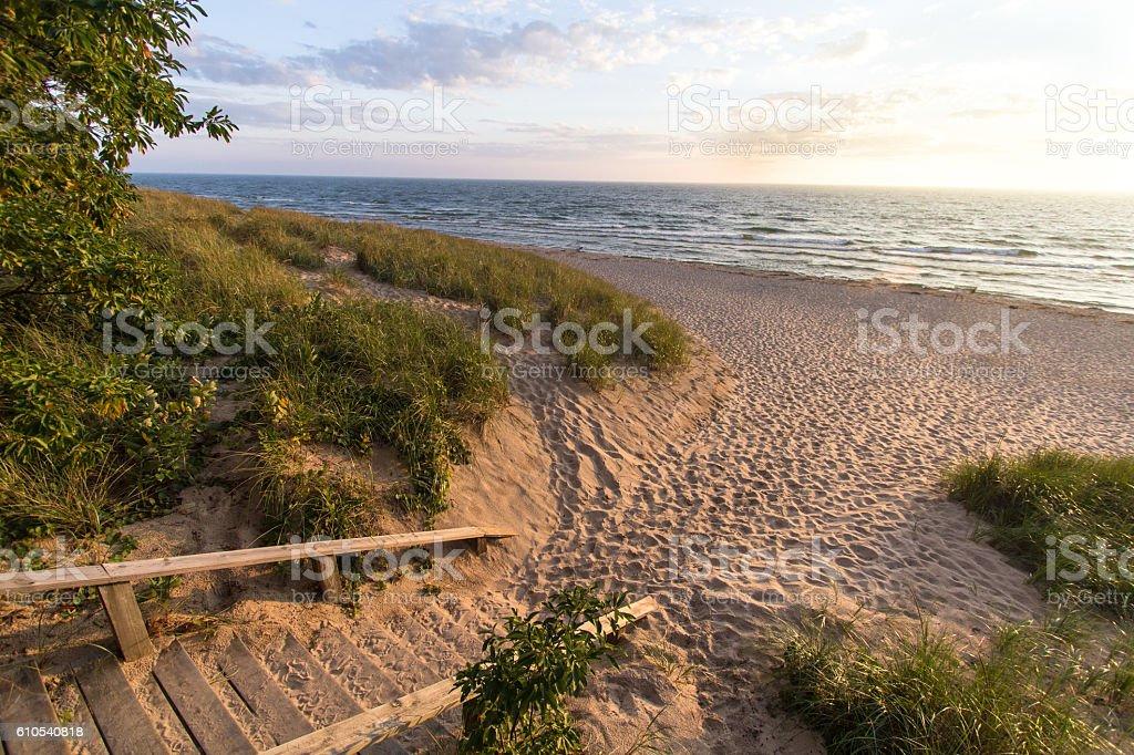 Michigan Summer Beach Vacation stock photo