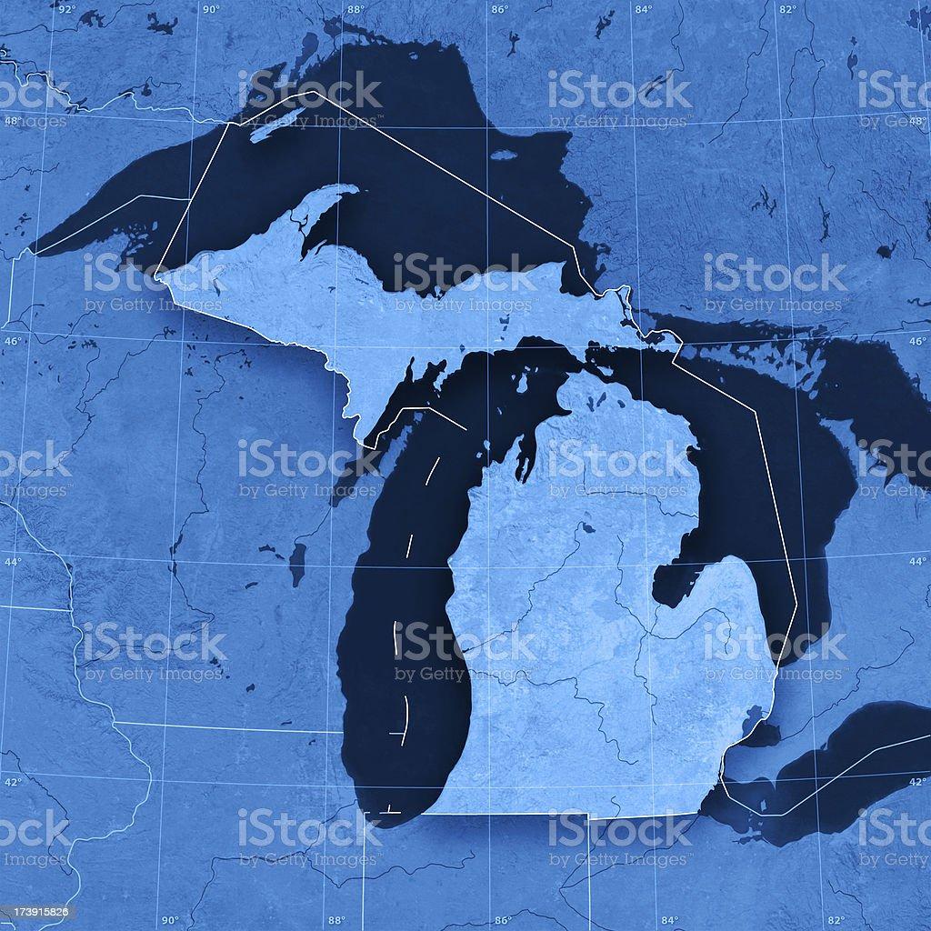Michigan Topographic Map royalty-free stock photo
