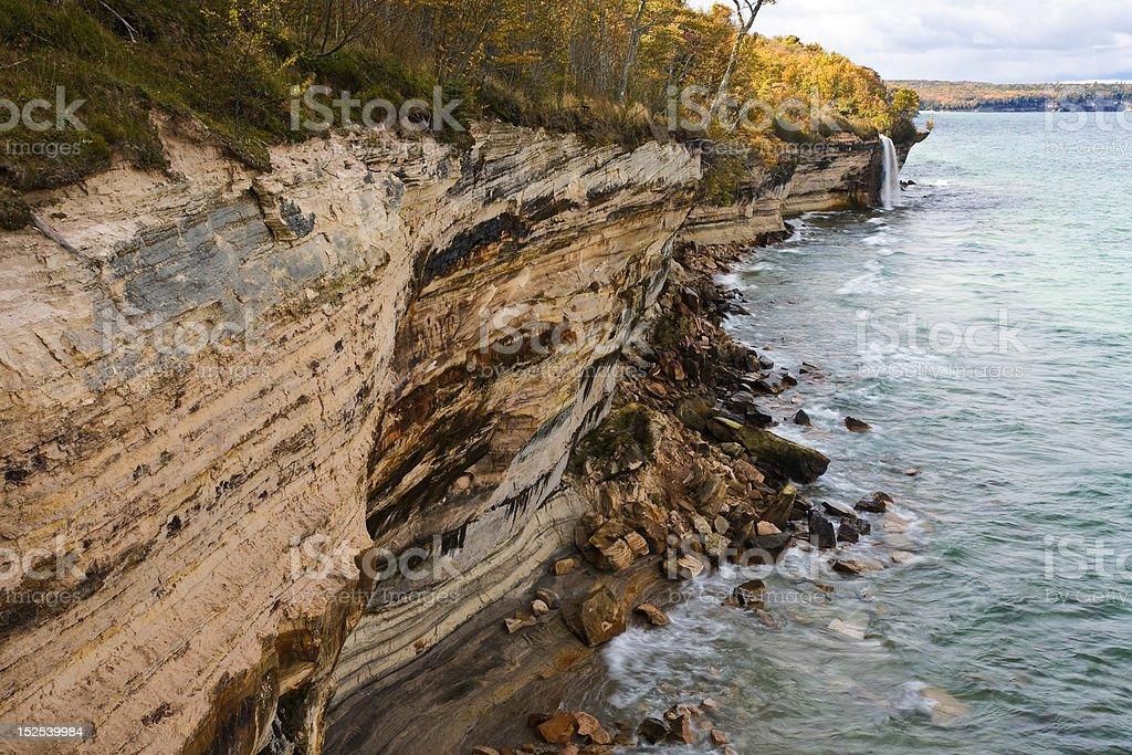 Michigan Upper Peninsula Waterfall stock photo