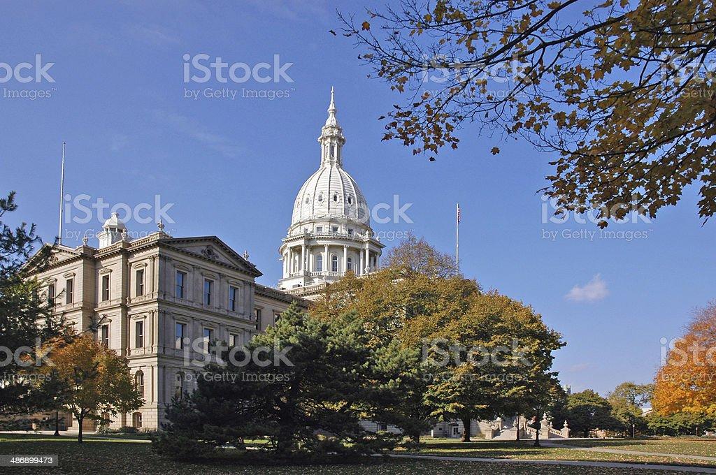 Michigans Capitol stock photo