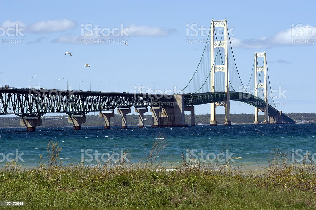 Michigan's Mackinac Bridge stock photo