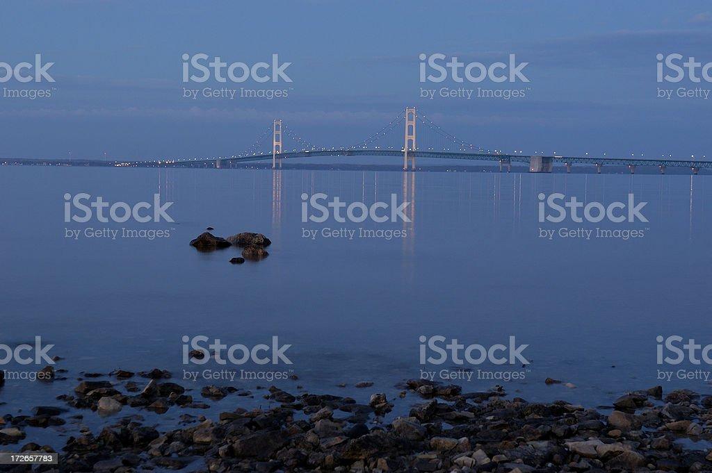 Michigan's Mackinac bridge stock photo