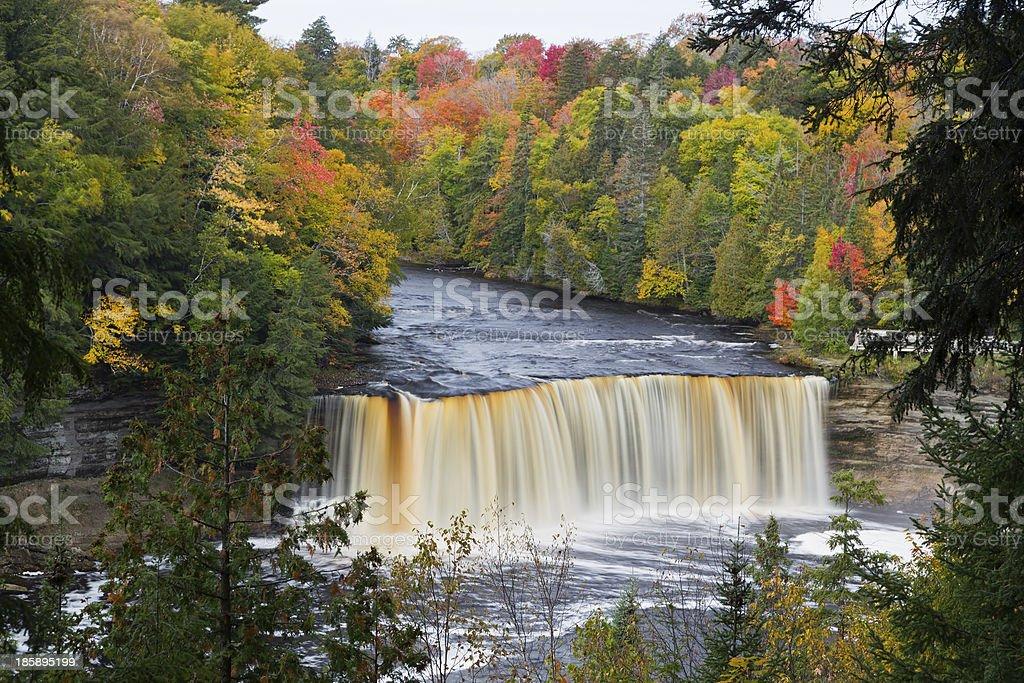 Michigan s Tahquamenon Falls foto stock royalty-free