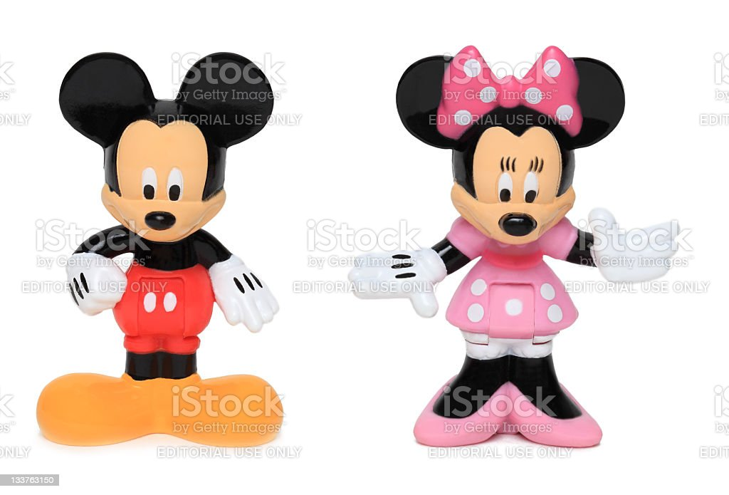 Mickey and Minnie mouse stock photo