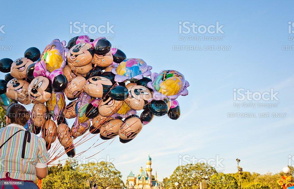 Mickey Mouse  balloons in Disneyland stock photo