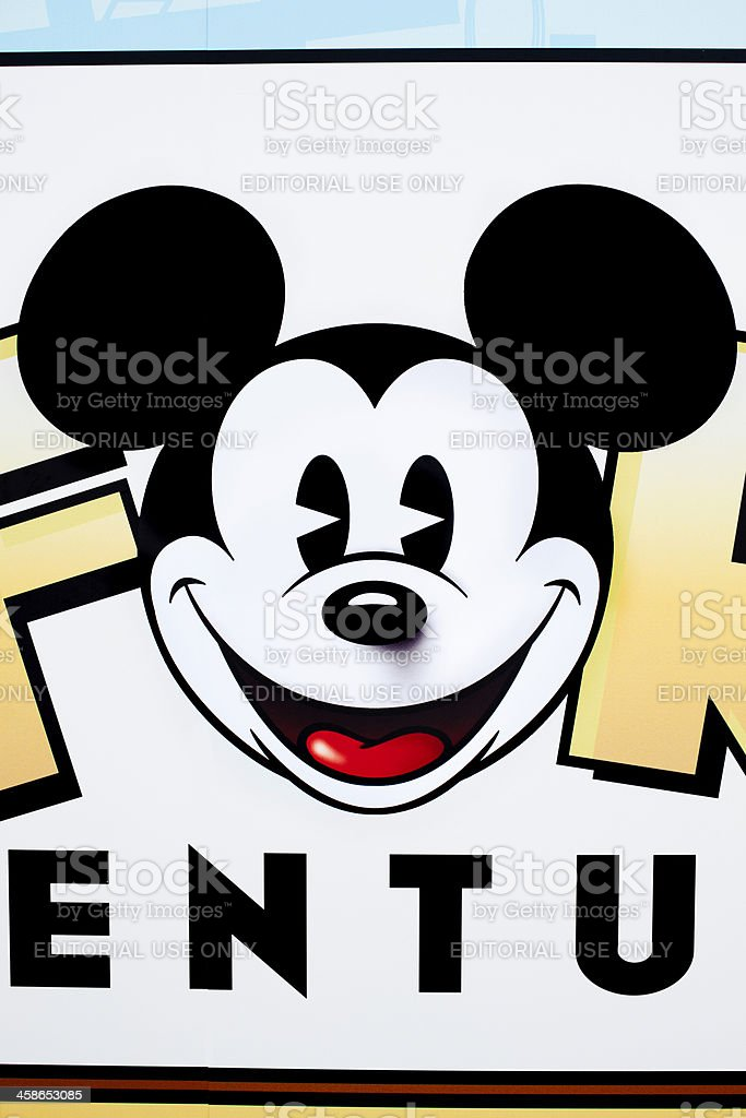 Mickey Mouse poster stock photo