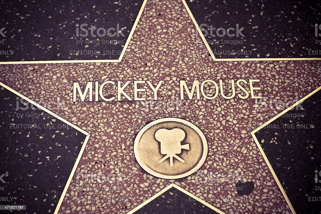 Mickey Mouse Star stock photo