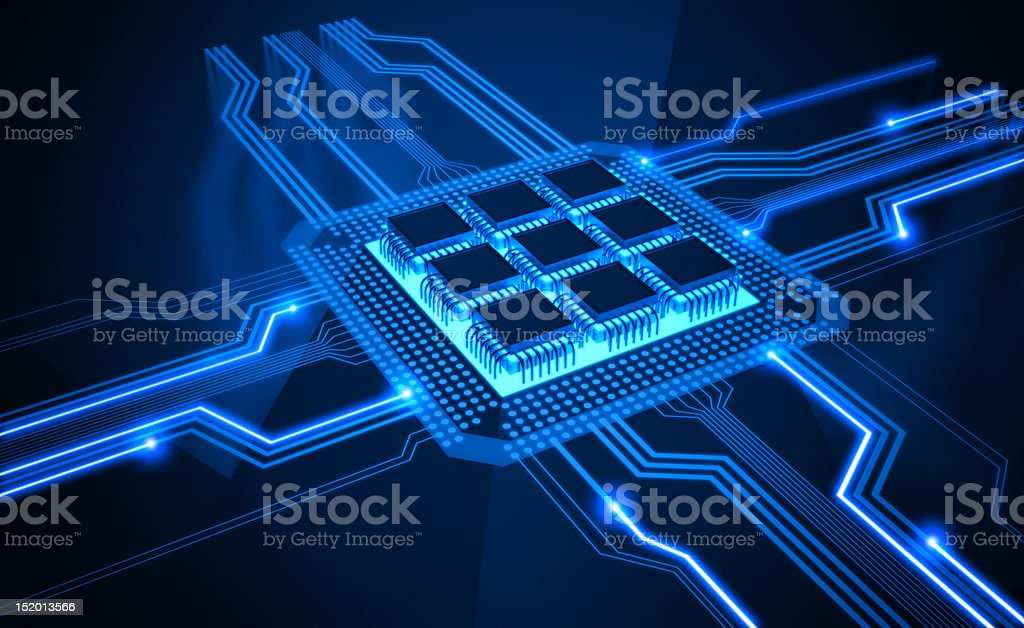 Micro Chip royalty-free stock photo