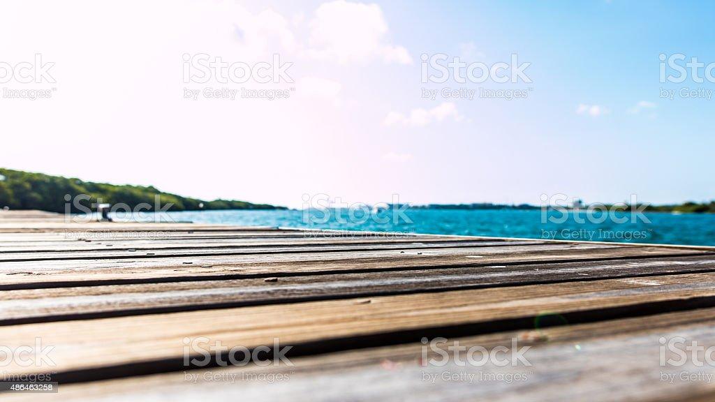 Micro Dock stock photo