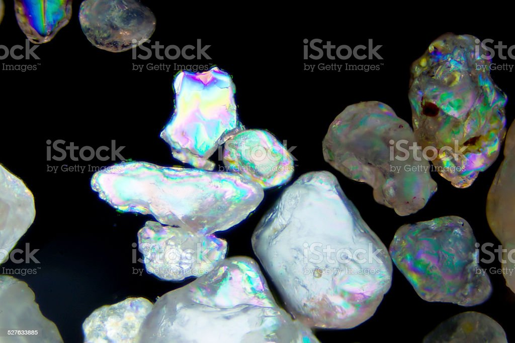 Micro photography of sand grains stock photo
