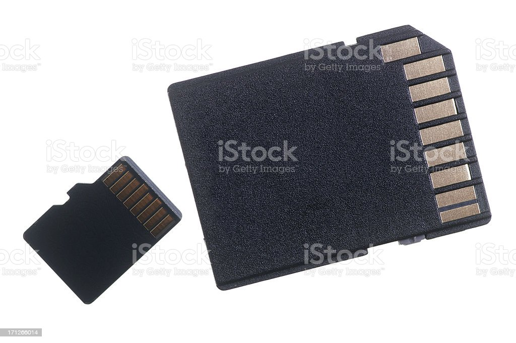 Micro SD Card With Adapter stock photo