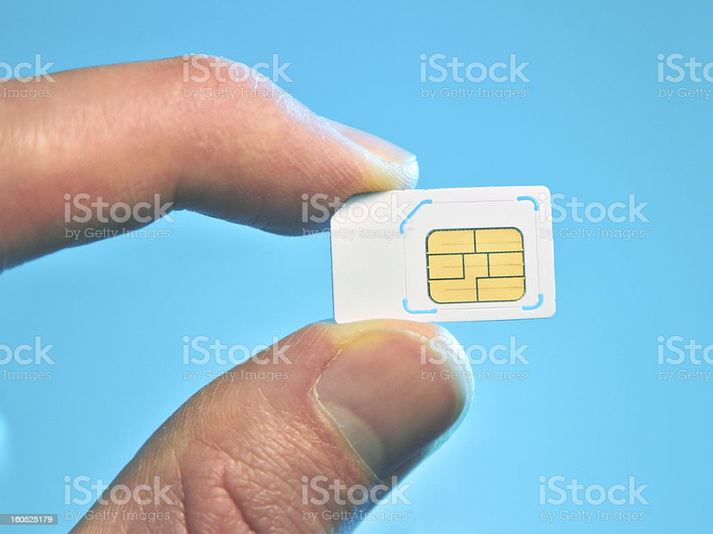 Micro sim card royalty-free stock photo