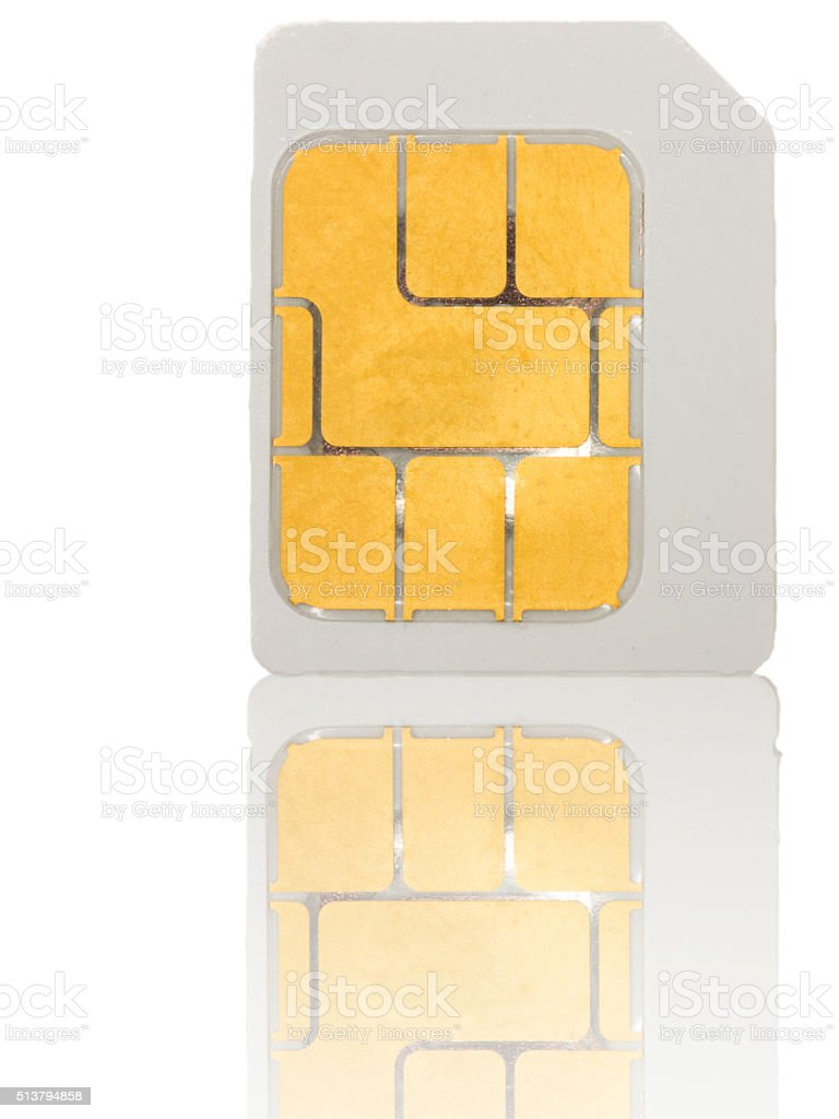 Micro Sim Card stock photo