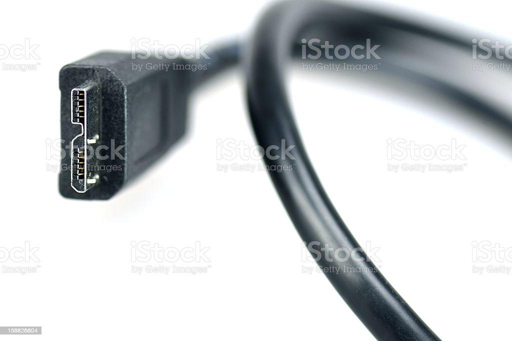 USB 3.0 Micro-B plug royalty-free stock photo