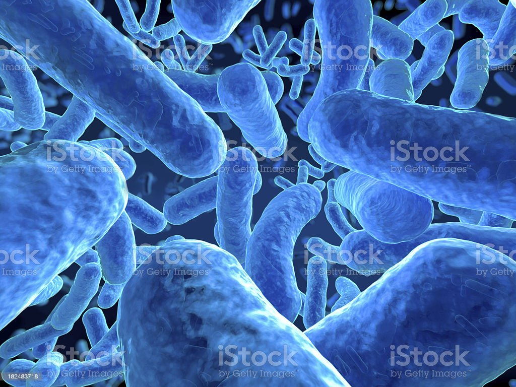Microbes closeup stock photo