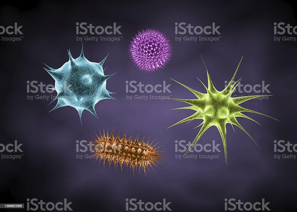Microbes stock photo