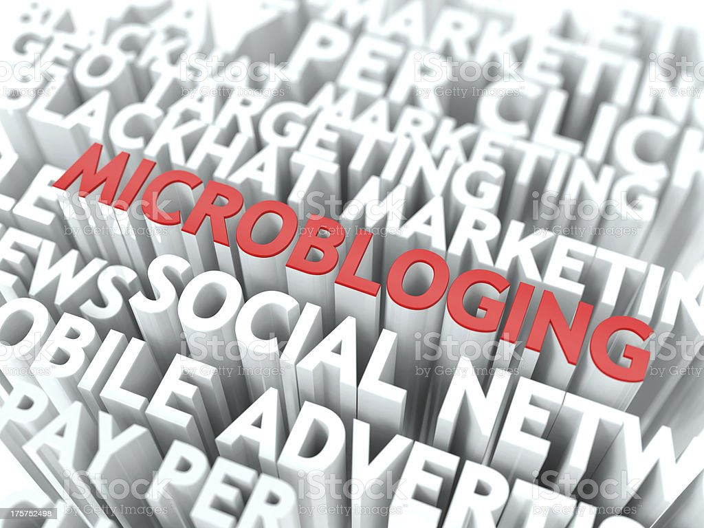 Microbloging Concept. stock photo