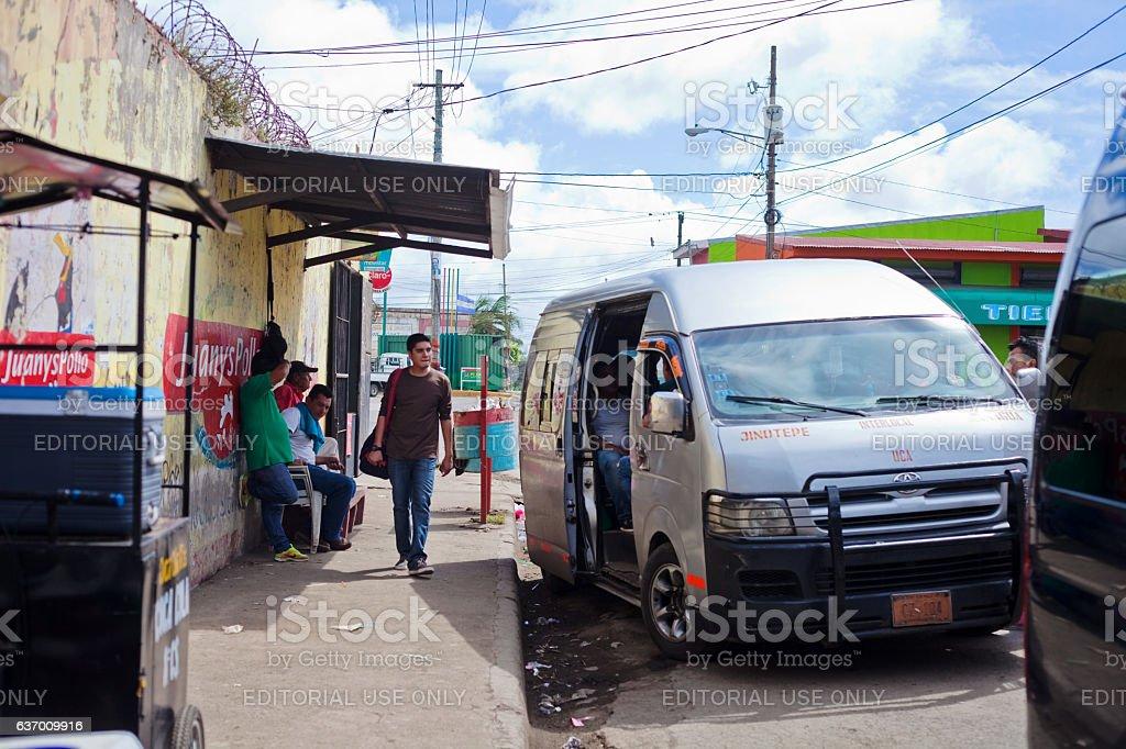 Microbus Terminal stock photo