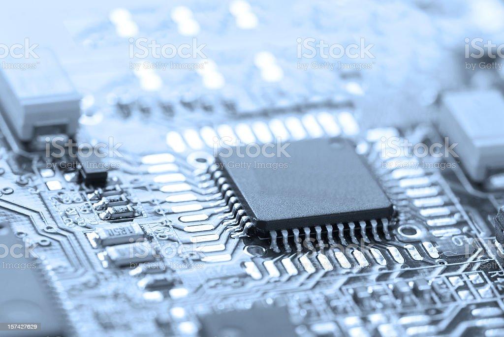 Microchip royalty-free stock photo