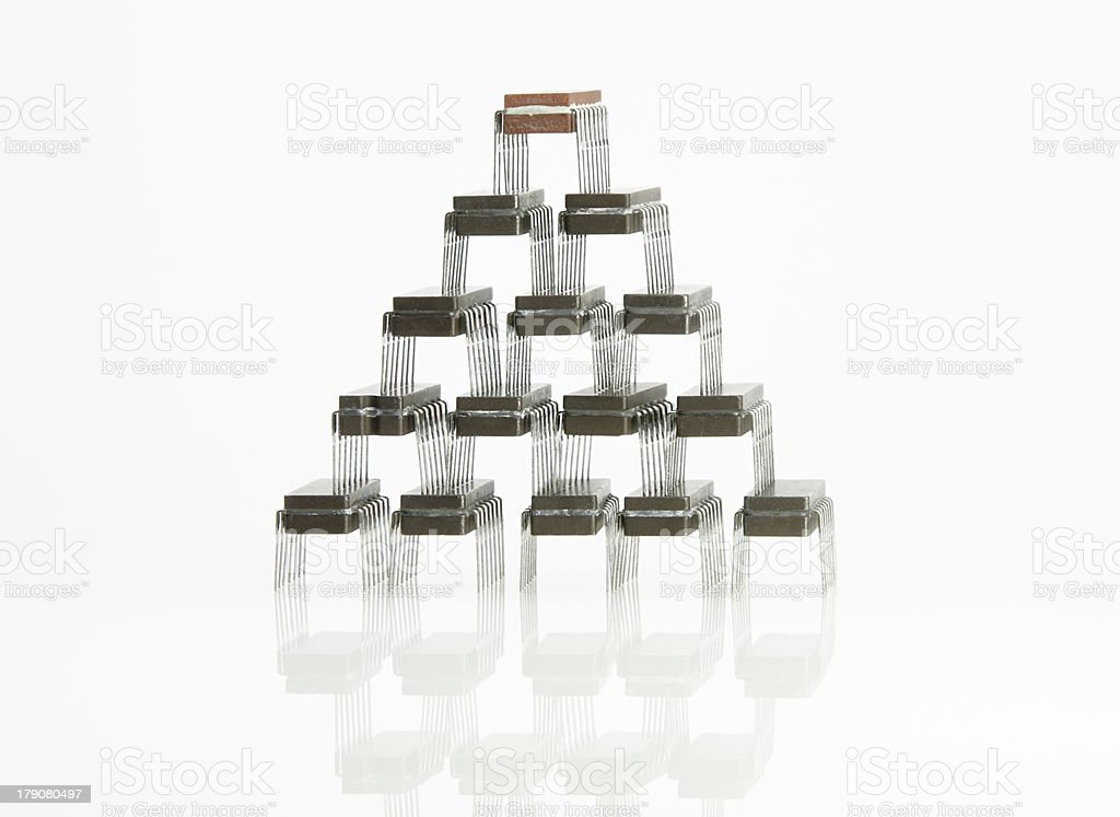 Microchips hierarchy royalty-free stock photo