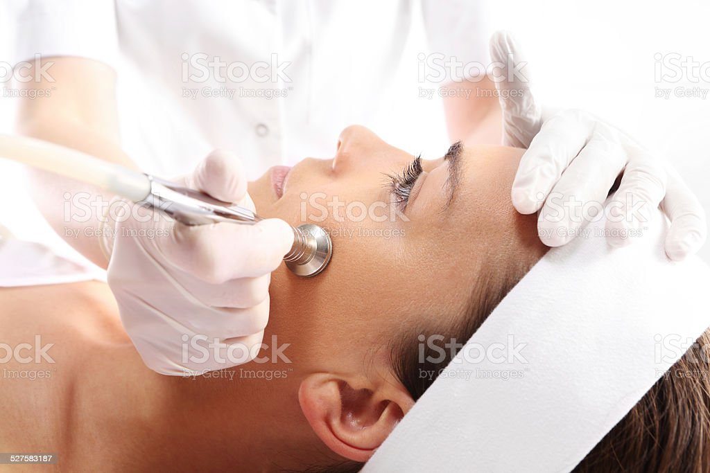 Microdermabrasion stock photo