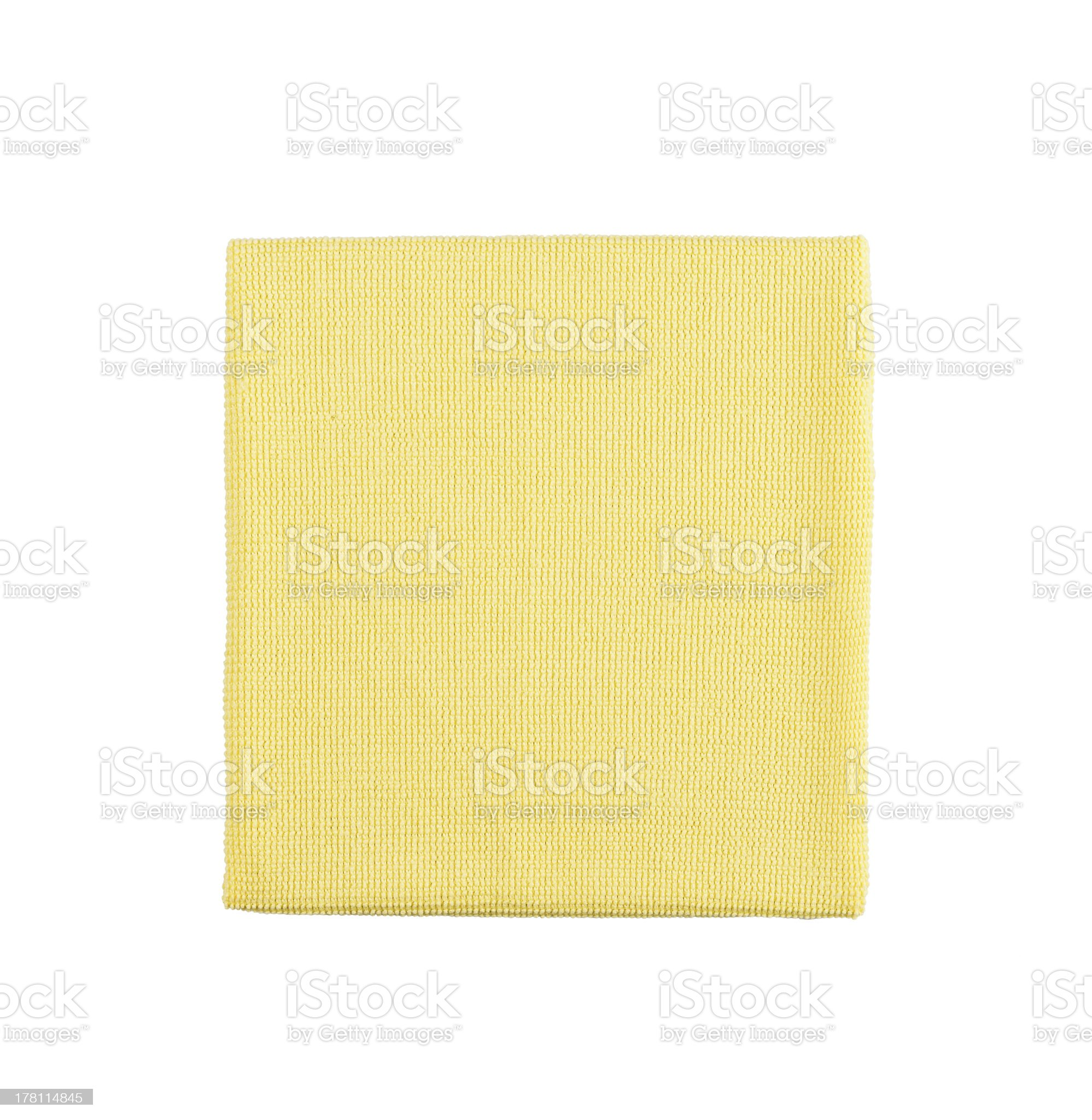 Microfiber cleaning towel over white background royalty-free stock photo