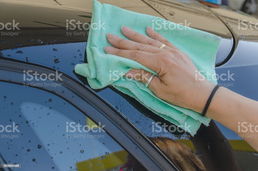 Microfiber duster stock photo