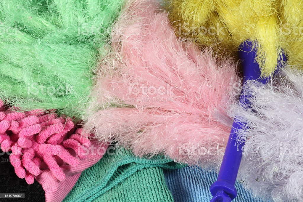 Microfibre dusters royalty-free stock photo